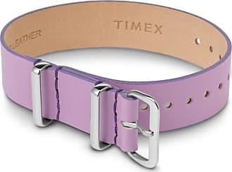 Timex Watch Womens 16MM Leather Slip-Thru Single Layer Strap Purple Item Tw2T53100Sw