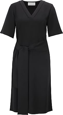 BOSS Relaxed-fit dress in Japanese crepe with tie belt