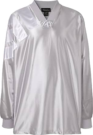 We11done Blusa de jersey estampada - Prateado