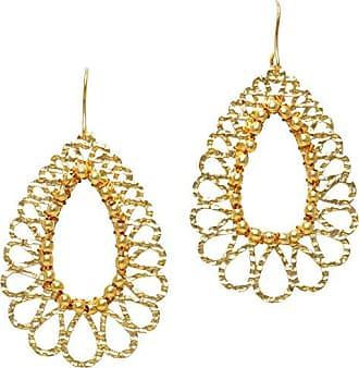 Tinna Jewelry Brinco Dourado Gotas Vazadas