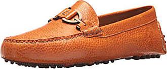 Donald J Pliner Mens RIEL3 Driving Style Loafer, Orange, 7 Medium US