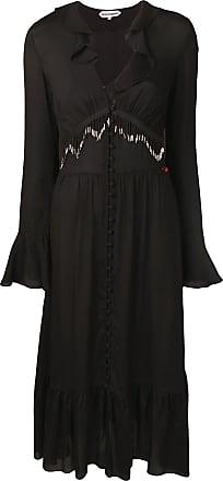 Giacobino Vestido com contas e franjas - Preto