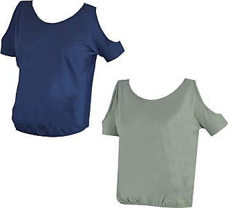 MySocks 2 Pack Cold Shoulder Tshirt Blue Grey XS