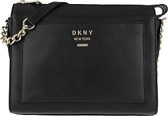 cd18669aeccd3 DKNY Hutton TZ Box Crossbody Bag Black Gold Umhängetasche schwarz