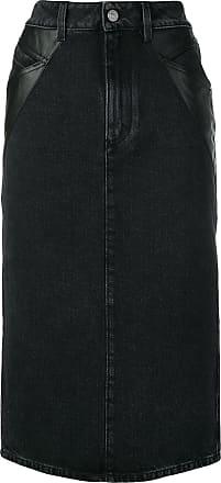Givenchy Saia lápis jeans midi - Preto