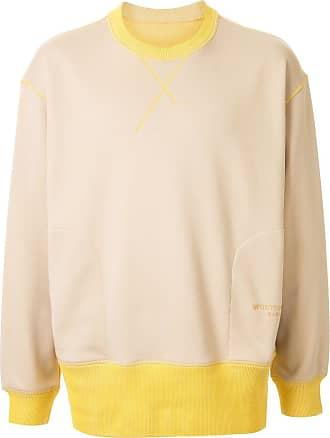 Wooyoungmi Suéter decote careca bicolor - Marrom