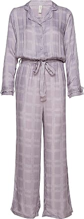 Underprotection Terry Jumpsuit Pyjamas Lila Underprotection