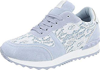 8bc99134efe Ital-Design Sneakers Low Damen-Schuhe Sneakers Low Sneakers Schnürsenkel  Freizeitschuhe Hellblau