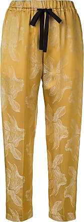 Forte_Forte straight leg trousers - Yellow