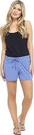 Tom Franks Womens Jersey Cotton Blend Shorts Ladies Beach Hot Pants Size UK 8-22 (16-18, Blue)