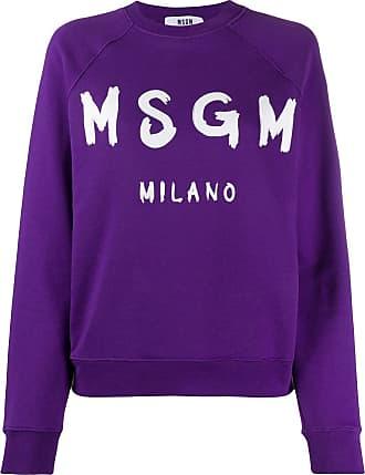 Msgm logo print sweatshirt - PURPLE