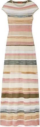 Missoni Striped Metallic Crochet-knit Maxi Dress - Gold