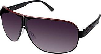 a6059ff0fae Rocawear Mens R1396 Mbkr Non-Polarized Iridium Shield Sunglasses Matte  Black Red 72 mm