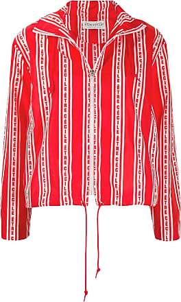 être cécile logo print hooded jacket - Red