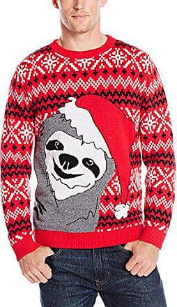 Alex Stevens Mens Stegosaurus Santa Ride Sweater