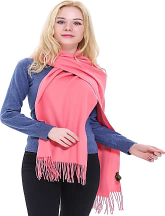 CJ Apparel Coral Pink Thick Solid Colour Design Cotton Blend Shawl Seconds Scarf Wrap Stole Throw Pashmina CJ Apparel NEW