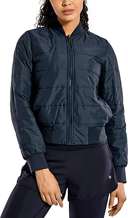 CRZ YOGA Womens Winter Coats Full Zip Lightweight Warm Packable Jacket Outerwear with Pockets True Navy 12
