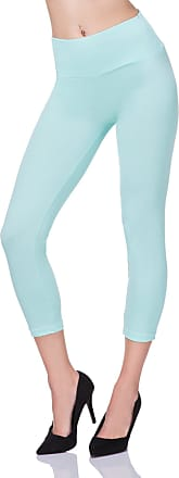 FUTURO FASHION Cropped 3/4 Lenght High Waist Leggings with Control Panel Active Pants LWP34