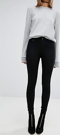 Cheap Monday spray on high waist skinny jeans-Black