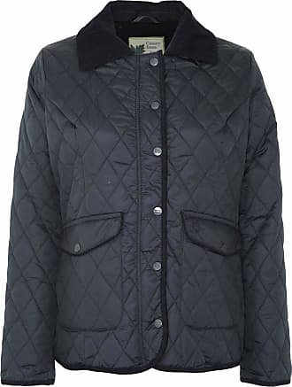 Champion Ladies Country Estate Zipped & Studded Quilted Short Winter Coat Jacket Black 12