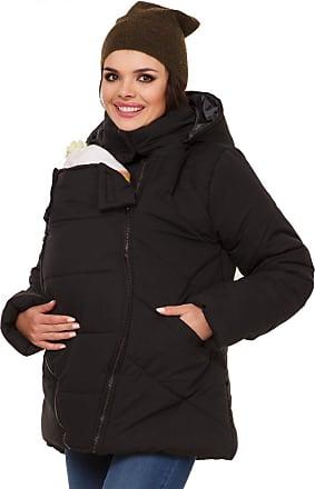 Zeta Ville Zeta Ville - Womens Maternity Padded Jacket Removable Panel Babywearing - 075c (Black, UK 16, 2XL)