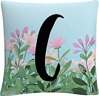 Trademark Fine Art Pink Floral Garden Letter Illustration C by ABC