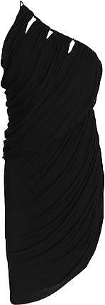 Halston Heritage Womens One Shoulder Flowy Drape Front Dress Cocktail, Breeze, 16