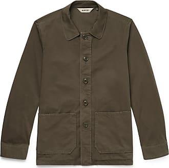 Aspesi Garment-dyed Cotton-twill Shirt Jacket - Green