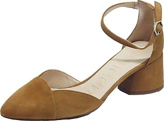 Wonders I-8002 Ante V Sand Sandals with Middle Heel in Sand Nubuck Beige Size: 8.5 UK
