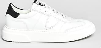 Reposi Calzature Philippe Model - Sneakers Temple Femme in pelle bianca e dettaglio nero