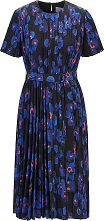 BOSS Pliss dress with permanent pleats and floral print