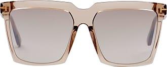 Tom Ford Eyewear Óculos de Sol Quadrado Marrom - Mulher - 58 US