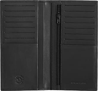 Nuvola Pelle Portafoglio Donna Grande RFID in Pelle Elegante da Viaggio con 14 Tasche Porta Carte Multi Tessere Nero
