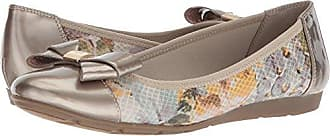 Anne Klein AK Sport Womens ALPHIA Light Green Multi Fabric Ballet Flat, 5.5 M US