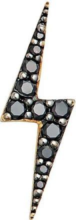 Zoe & Morgan Gold Zap Lightning Black Diamond Ohrstecker - One Size - Black/Gold