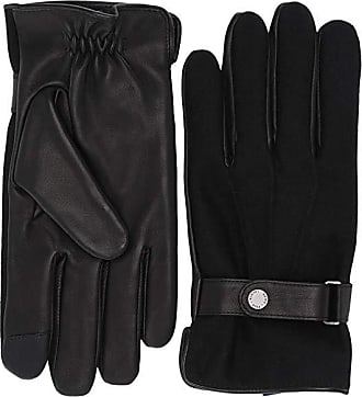 POLO RALPH LAUREN BLACK LEATHER CASHMERE GLOVES NWT