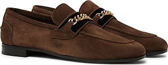 Tom Ford Wilton Chain-embellished Velvet-trimmed Suede Loafers - Brown