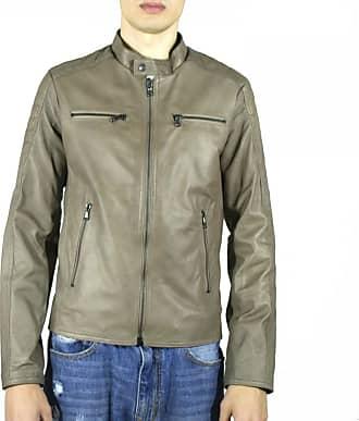 Leather Trend Italy U05 - Giacca Uomo in Vera Pelle colore Fango Invecchiato