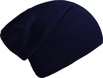DonDon winter hat slouch beanie warm classical design modern and soft dark blue