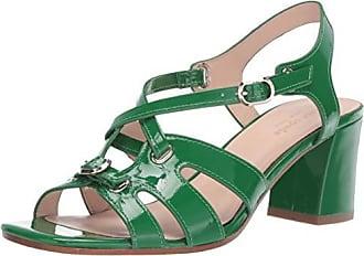 Kate Spade New York Womens Ella Heeled Sandal Green Beans 9 M US