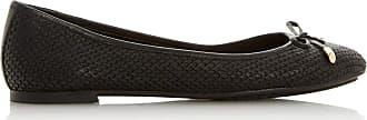 Dune London Dune Ladies Womens WF HARPAR Wide Fit Bow Detail Ballerina Pump Size UK 3 Black Flat Heel Wide Fit