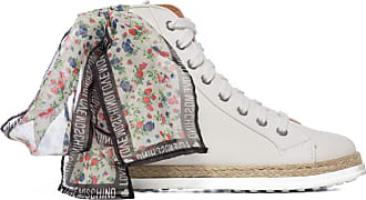 Love Moschino Espadrille Floral Bootie - White