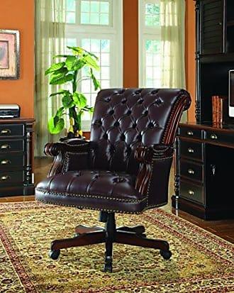 Coaster Fine Furniture Adjustable Height Office Chair Dark Brown