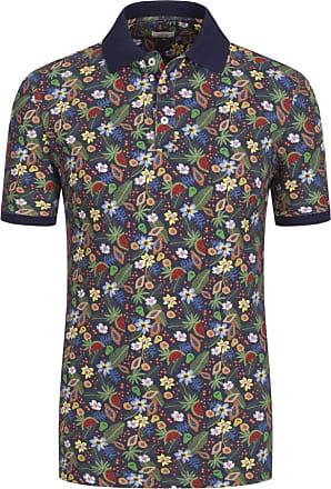 Altea Übergröße : Altea, Poloshirt mit modischem Print in Blau für Herren