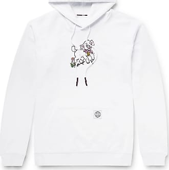 McQ by Alexander McQueen Printed Fleece-back Cotton-jersey Hoodie - White