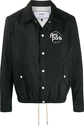 Ami logo detail lightweight jacket - Preto