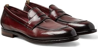Officine Creative Ivy Burnished-leather Penny Loafers - Burgundy