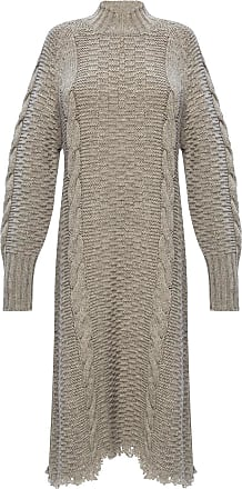 Jil Sander Wool Dress Womens Grey
