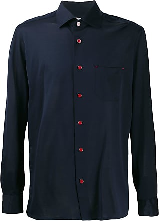 Kiton fitted shirt - Blue