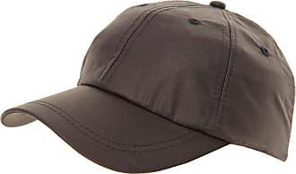 Hawkins Gents Quality Waxed Cotton Fishing Hunting Baseball Cap with Tartan Lining (Black)